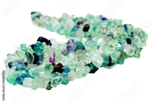 Foto op Plexiglas Edelsteen fluorite gemstone beads necklace jewelery