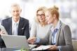 Leinwanddruck Bild - Business people at meeting