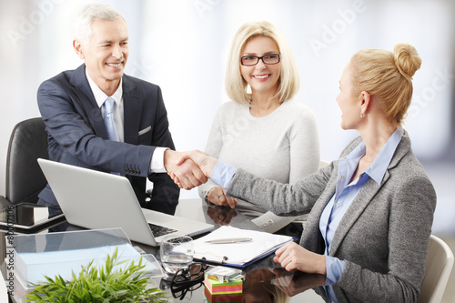Business people shaking hands - 80007106