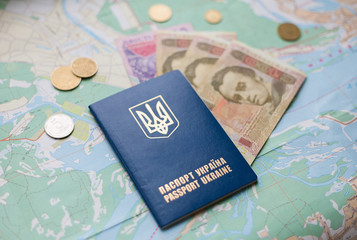 Паспорт, деньги, карта
