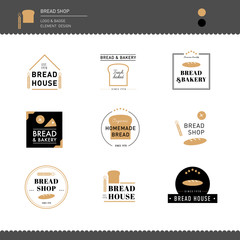 Bread and bakery cafe Logo design