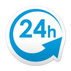Pegatina simbolo 24 horas