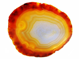 agate with chalcedony geological crystal