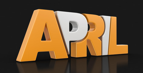 April  (clipping path included)
