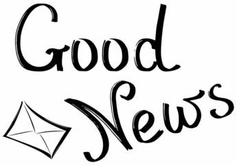 Good news, lettering