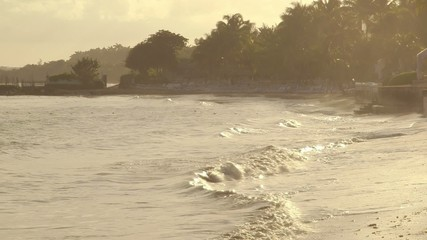 Tropical Caribbean sea water Montego Bay, Jamaica