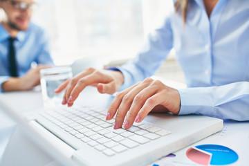 Typing secretary