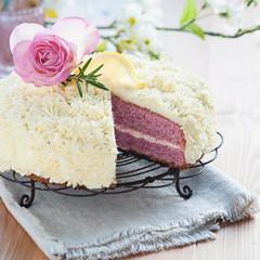 Zitronen-Himbeer-Torte mit Rosmarin II