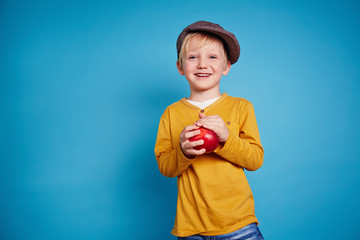 Lad with apple