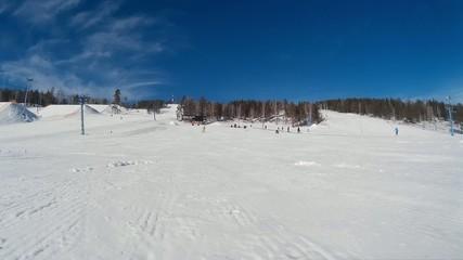 Обгон на сноуборде Snowboarder overtake