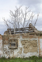 Old house in ruins at abandoned village