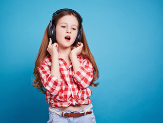 Girl and her music style