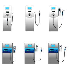 Electric car charging column set 2