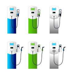 Electric car charging column set 1