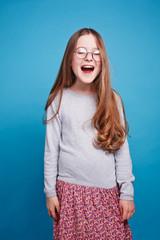 Screaming girl in the glasses