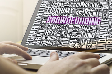 crowdfunding on a screen