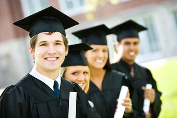 Graduation: Line of Smart Students