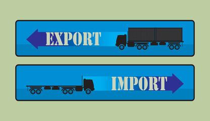 Export import signs,symbols vector illustration