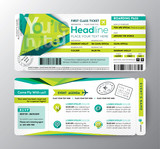 Fototapety Abstract Polygon design Boarding Pass Event Ticket Invite card