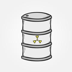 barrel with dangerous fluid