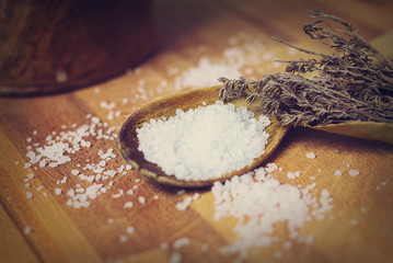 gros sel et thym