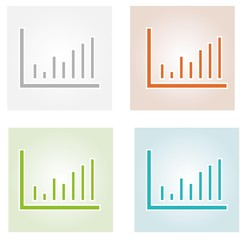 four color bar charts