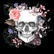 Skull and Flowers Day of The Dead - 80013707