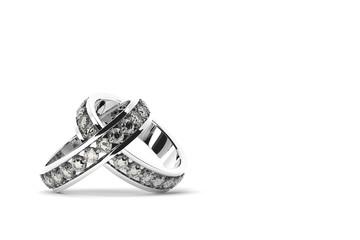 2つの交差する指輪