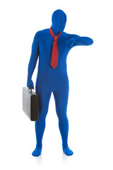 Blue: Man Late for Meeting