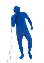 Blue: Dancing to Music in Headphones