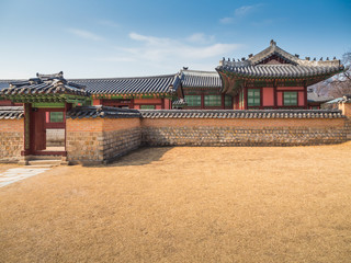Traditional Korean architecture at Gyeongbokgung Palace