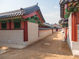Traditional Korean architecture at Gyeongbokgung Palace