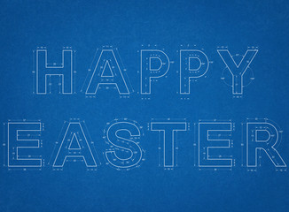 Happy Easter Blueprint