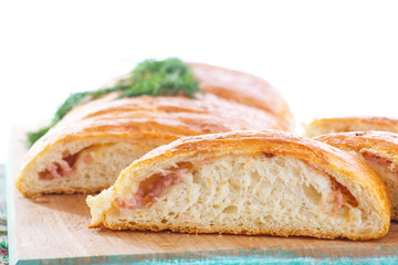baked bread stuffed with cheese