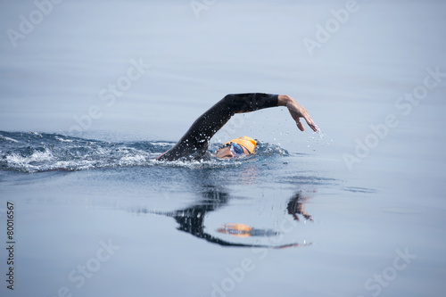 Unknown Swimmer at sea.