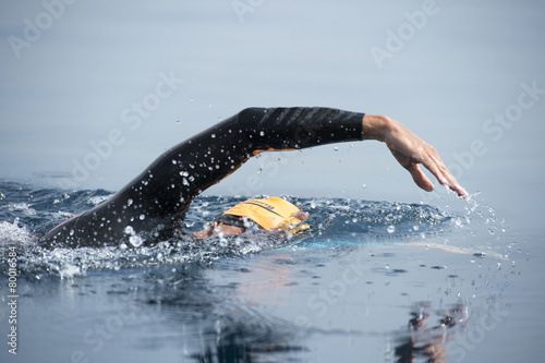 Unknown Swimmer at sea. - 80016584