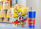 Popcorn And Drink On Concession Stand