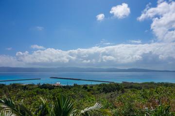 沖縄県 鳩間島 物見台からの景色