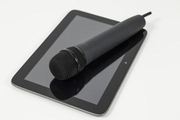 mikrofon auf tablet