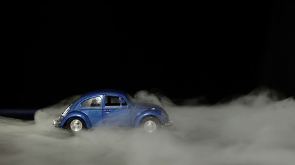 Toy car with fog