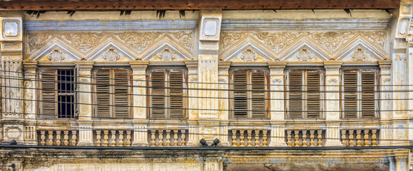 Sino-Portuguese Architecture of many the buildings in Phuket