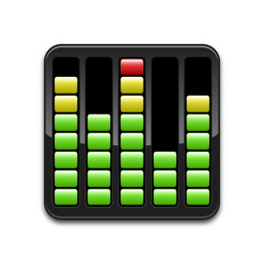 Vector digital equalizer icon