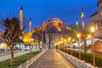 Hagia Sophia in the evening