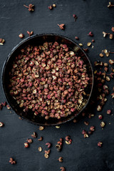 Sichuan peppercorn from above
