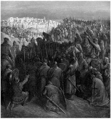 Crusaders : before the walls of Jerusalem - 11th century