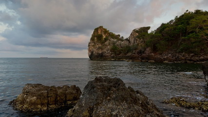 Beauty Island in Thailand on summer