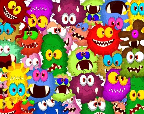 Cartoon bacteria collection set for you design - 80022543
