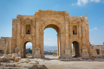 The commemorative Arch of Hadrian in the ancient city of Jersah