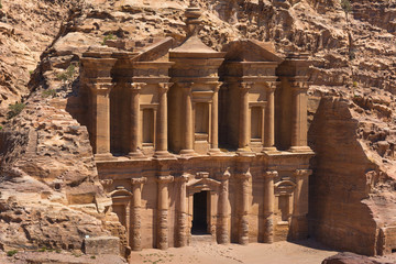 The al-Dayr tomb part of the Petra complex in Jordan