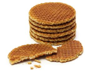 dutch stroopwafel, caramel waffle